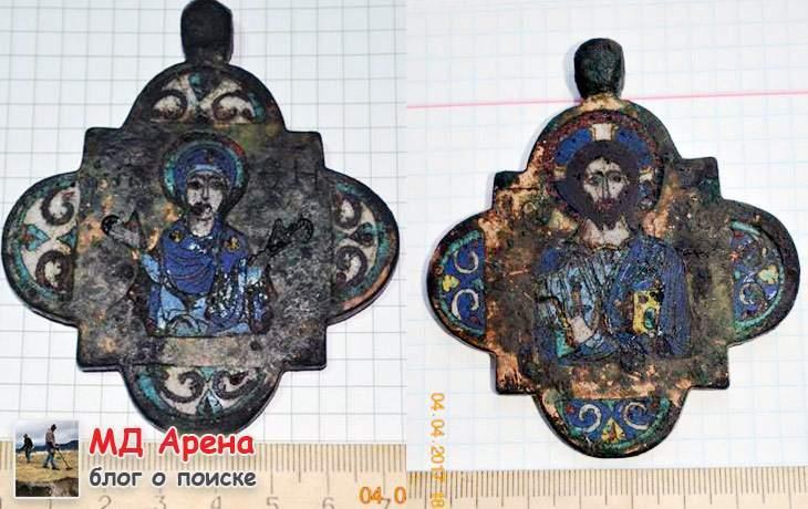 Икона квадрифолий в эмалях. Копанный джекпот ($15117)