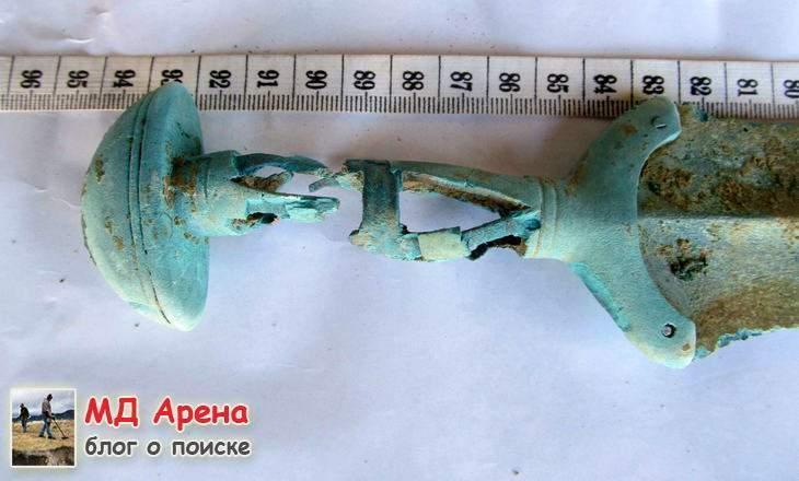 Бронзовый меч 14 века до н.э. + золото. Альфонсы Фортуны