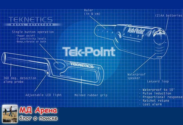 Пинпоинтер Teknetics Tek-Point (+параметры). Новинка 2017
