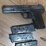 Пистолет ВОВ и патроны. Находки старого чердака