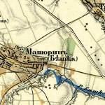 Старая трехверстовка цветная и наложение карты