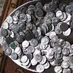 Полная лопата римских монет. Одно фото